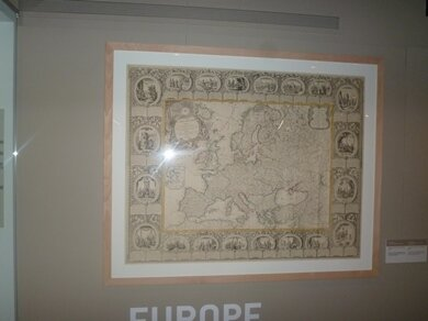 decorated ancient map of europe