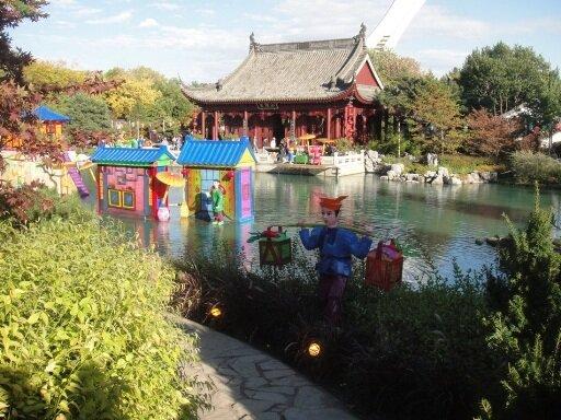 panoramic view of China garden
