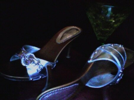 Martinis & stilettos: Customarily welcome at a social gathering