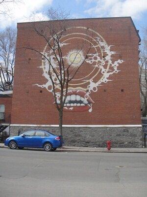 president kennedy street graffity