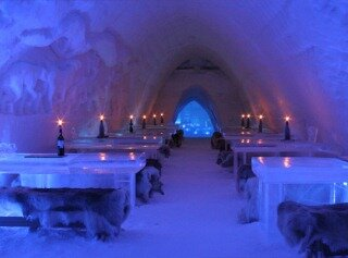 restaurant snow village